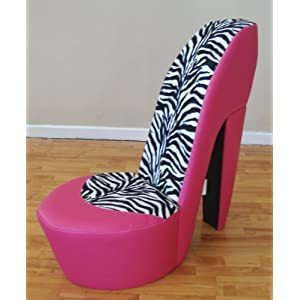 Pink and zebra stiletto chair home sweet home pinterest