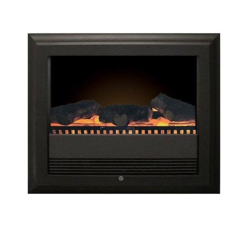 classic fire vienna elektrischer kamin wandkamin mit kaminfeuer 2 heiz ventilationsstufen. Black Bedroom Furniture Sets. Home Design Ideas