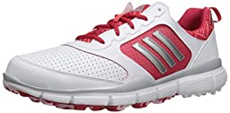 adidas Women\'s W Adistar Sport Golf Shoe, Fatwa White/Matte Silver/Ray Red Fabric, 6.5 M US