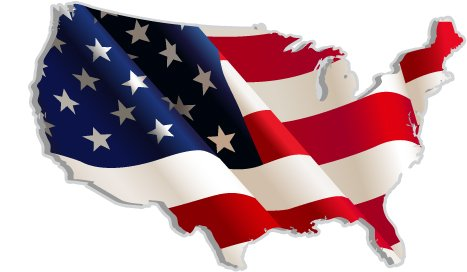 USA United States of America American US map flag sticker decal 5