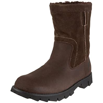 Skechers Fur-Lined Men's Winter Boots Leather Brown UK9