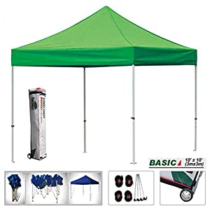 eurmax basic 10 x 10 ez pop up canopy instant tent outdoor party gazebo commercial. Black Bedroom Furniture Sets. Home Design Ideas