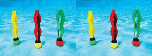 INTEX Underwater Swimming/Diving Pool Toy Sinking Fun Balls (6 Pack)
