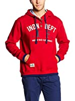 THE INDIAN FACE Sudadera con Capucha (Rojo)