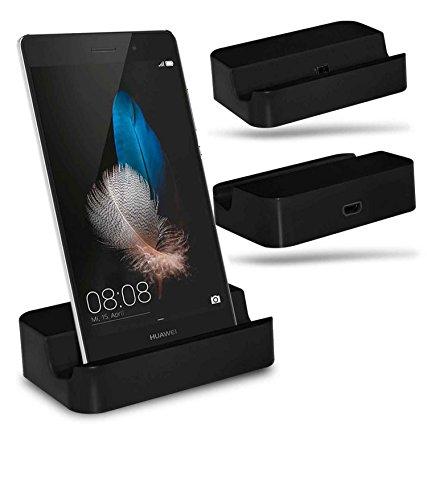 Huawei P8 Lite Station d'accueil de bureau avec chargeur Micro USB support de chargement - Black - By Gadget Giant®