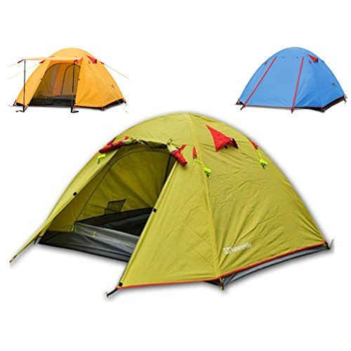 Weanas® Waterproof Double Layer 2, 3, 4 Person 3 Season Aluminum Rod Double Skylight Outdoor Camping Tent