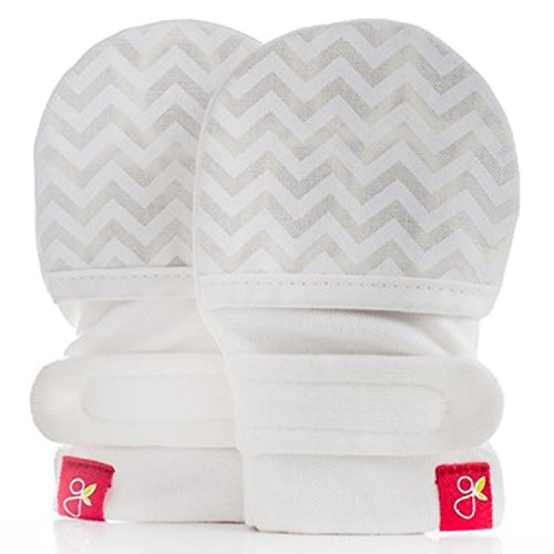 Goumikids Goumimitts Stay On Scratch Mittens, 1 pair M/L Chevron (Cream) , 3-6 Months