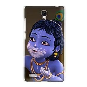 Clapcart Bal Krishna Art Design Printed Back Cover for Xiaomi Redmi Note 4G -Colordul