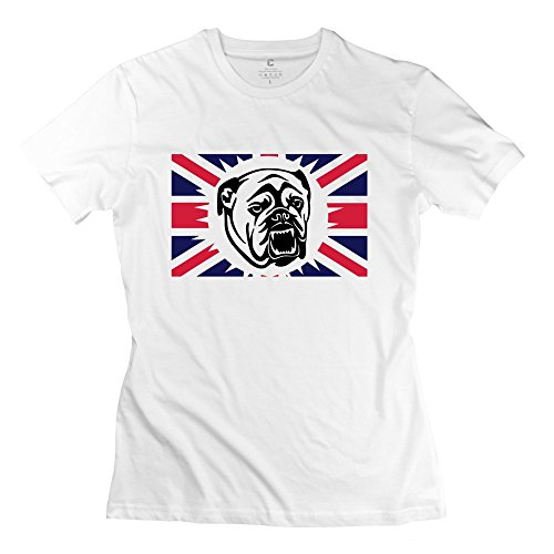 ZZY Geek British Bulldog T-shirt - Women's Tshirt White