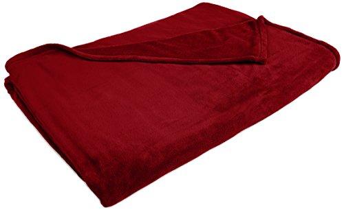 Northpoint Newport Micro Fleece Plush Blanket, King, Burgundy front-917266