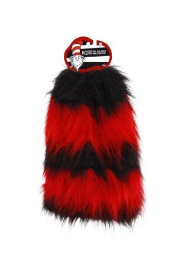 Cat in the Hat Leg Warmers Red/Black Costume Accessory