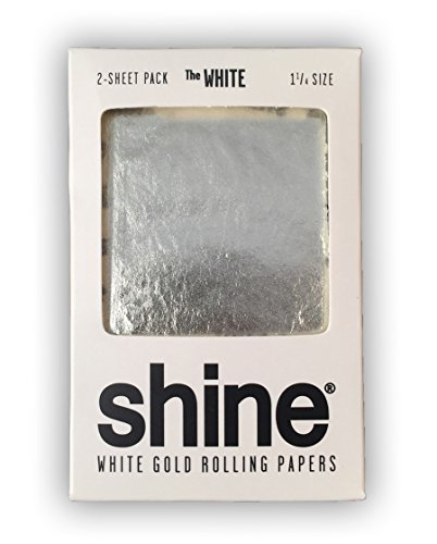 "Shine 24K White Gold Rolling Papers 2 Sheet Pack ""The White"""
