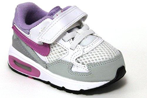Nike Air Max ST Kids Mädchen Kleinkinder Turnschuhe/Schnürschuhe Casual Sportschuhe Schuhe, Weiß - White/Purple - Größe: 24 EU