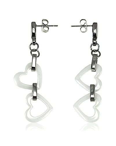 So Charm with Crystals from Swarovski Orecchini  Bianco