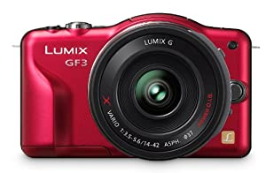 Panasonic Lumix DMC-GF3X 12.1 MP Micro Four Thirds Compact System Camera with 3-Inch Touch-Screen LCD and LUMIX G X Vario PZ 14-42mm/F3.5-5.6 Lens (Red)