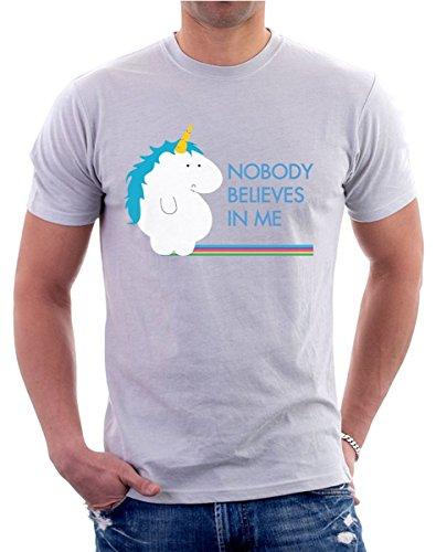 t-shirt - unicorno - nobody believes in me - tutte le taglie uomo donna maglietta by tshirteria