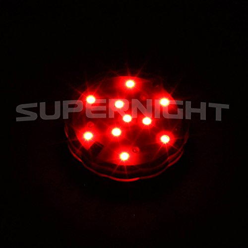 Super Bright 10 Leds Reusable Submersible Led Light Rgb