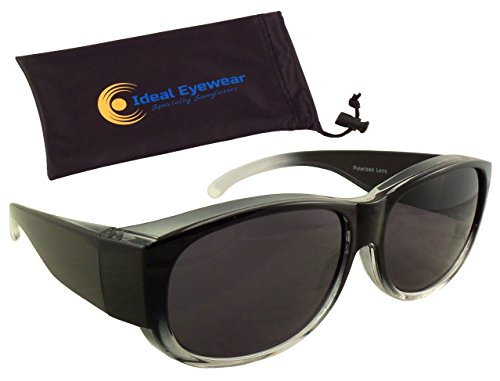 ed6dea153 Womens Ombre Fit Over Sunglasses by Ideal Eyewear - Wear Over Prescription  Glasses - Over Eyeglasses