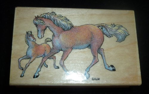 Horses Rubber Stamp - 1