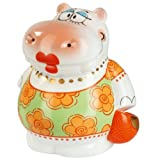 Adam & Ziege Porcelain Salt / Pepper Pot - Helga The Hippo