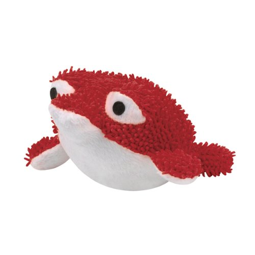 Zanies Plush Primo Pufferfish Dog Toy, 6-1/2-Inch, Red