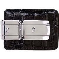 Money Clamp Gunmetal Zurich Silver With Black Croco Wallet Clip