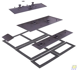 Walthers - Cornerstone Modulars - Flat & Peaked Roofs w/Base N - 1