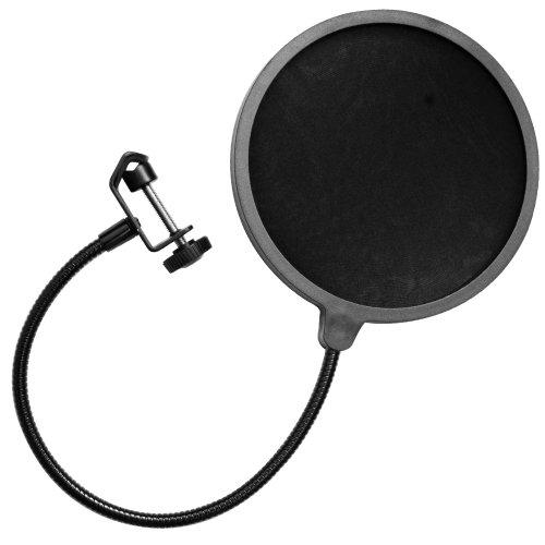 Seismic Audio - Sa-Micscreen - Flexible Microphone Wind Screen Studio Mic Pop Filter Windscreen