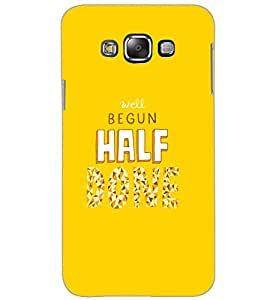 SAMSUNG GALAXY GRAND MAX WELL BEGUN HALF Back Cover by PRINTSWAG