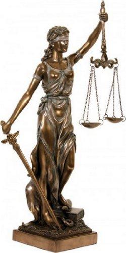 Skulptur Justitia bronziert thumbnail