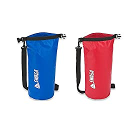 SWAGA -Sports 10 L Dry Sack Waterproof Sports Bag - RED and BLUE - 2 Pack