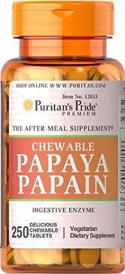 Puritan's Pride Papaya Papain-250 Chewables