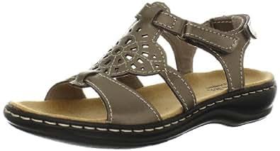 Clarks Women's Leisa Taffy Sandal,Pewter,6 M US