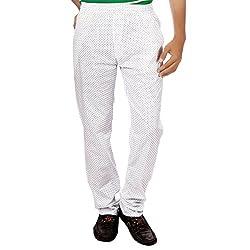 Aaduki Men's CottonTrack Pants_White_L
