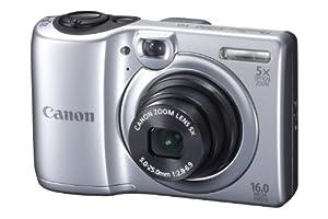 Canon PowerShot A1300 Digitalkamera (16 Megapixel, 5-fach opt. Zoom, 6,9 cm (2,7 Zoll) Display, DIGIC 4 mit iSAPS) silber