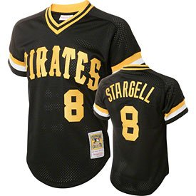 Mitchell & Ness Mens 1982 Pittsburgh Pirates Willie Stargell #8 Mesh Batting... by Mitchell & Ness