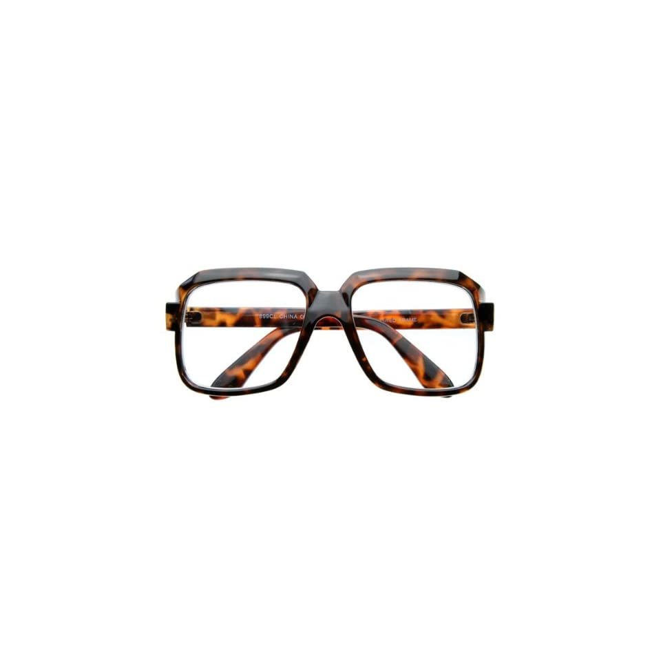 cf67409208ea Hop Run DMC Thick Frame 80s Squared Clear Glasses on PopScreen