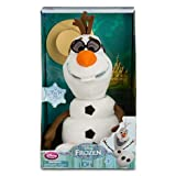 "Disney Store Authentic Frozen Talking Singing Animated Olaf 10.5"" Plush"