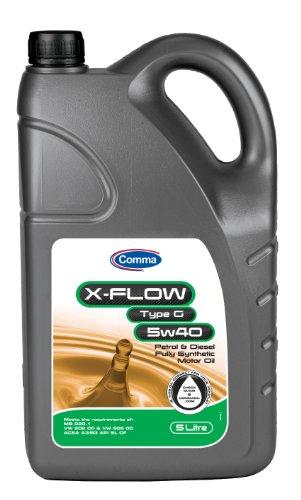 Comma XFG5L 5L X-Flow Type G Fully Synthetic 5W40 Motor Oil