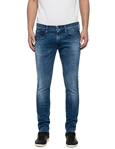 Replay Men's Hyperflex Men's Slim Jeans In Blue Color In Size 29-32 Blue