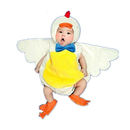 Fashion Unisex Newborn Boy Girl Baby Costume Photography Props Chicken Suit