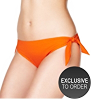 M&S Collection Side Tie Textured Hipster Bikini Bottoms