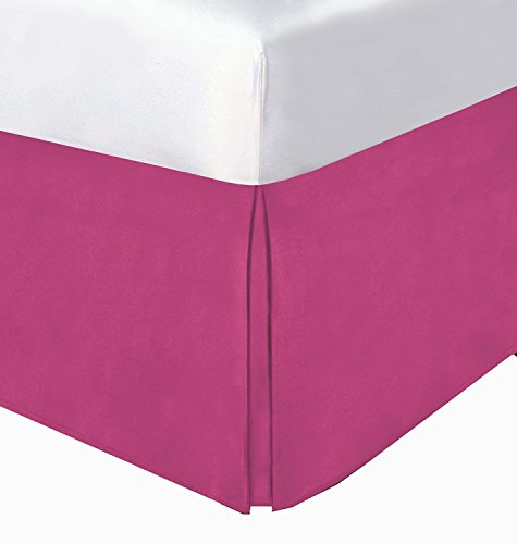 Best Review Of Crescent Bedding Pleated Bed Skirt Easy Care, Quadruple Pleated Design, Fabric Base A...