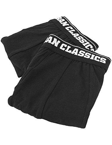 Urban Classics Mens Shorts Double Pack, Boxer Uomo, Schwarz (Blk/Blk 17), X-Large