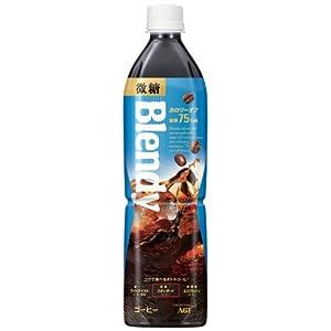 AGF ブレンディボトルコーヒー 微糖 900ml×12本
