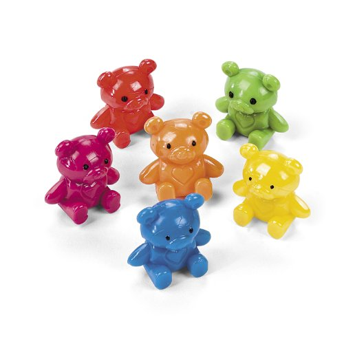 Colorful Mini Teddy Bear Characters (2 dz)