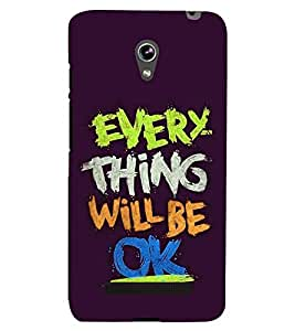 PRINTSHOPPII EVERY THING WILL BE OK QUOTES Back Case Cover for Asus Zenfone 5 A501CG::Asus Zenfone 5 A500CG