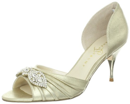 Ivanka Trump Women's Nanci Pump,Gold Suede,6 M US