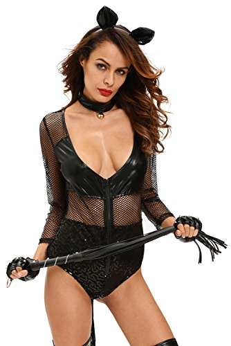 [FiveFour Women's Halloween Party Cosplay All Black Gothic Witch Costume] (Borderlands 2 Costumes For Sale)