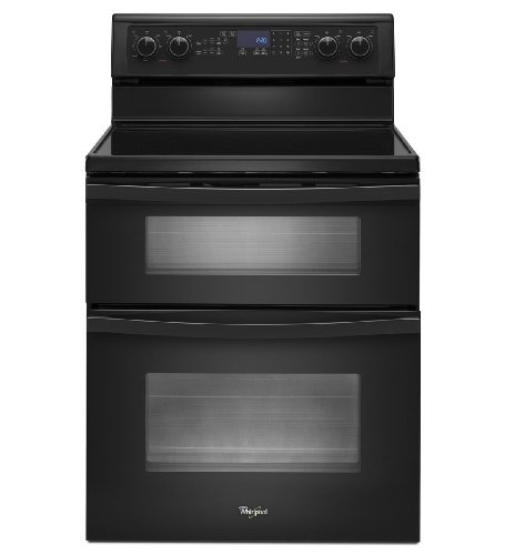 """Whirlpool Wge555S0Bb 30"""" Black Electric Smoothtop Double Oven Range - Convection"""